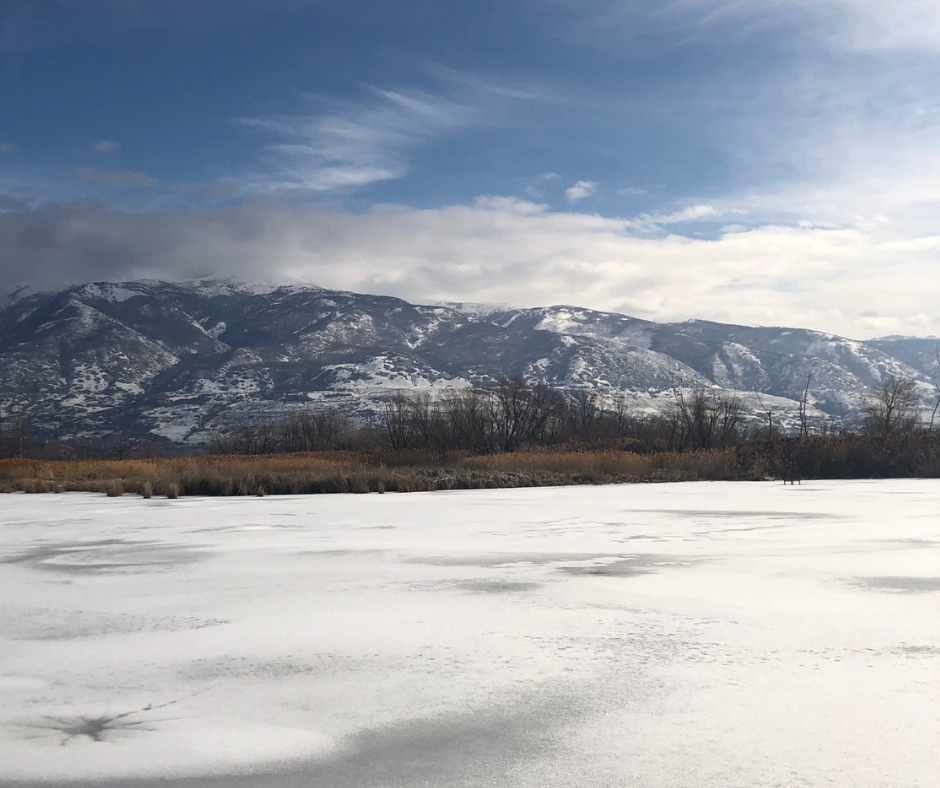 Winter at Farmington Bay, Utah