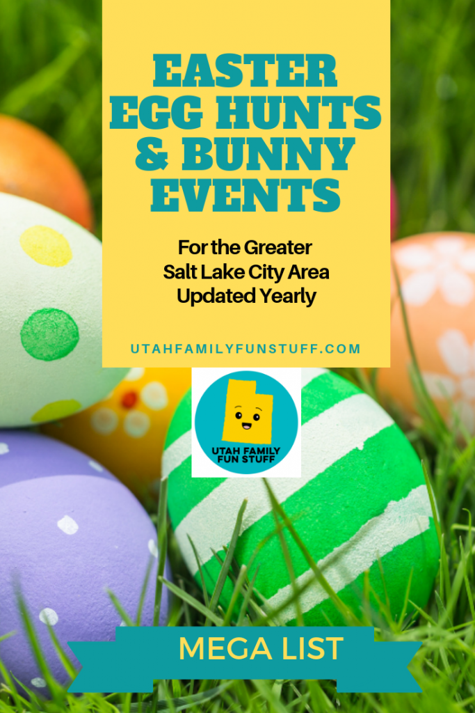 MEGA List of Easter Egg Hunts and Easter Bunny activities for the Greater Salt Lake City Area. Arranged by county, north to south. Updated yearly. #easter #utah #saltlakecity #easteregg #easterbunny