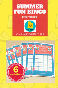 Make a game of summer activities with these free, fun bingo printables. Teach goal setting as you do constructive activities together. Six variations available for large or small families. Print what you need. #bingo #summer #free #printable #children #kids #fun
