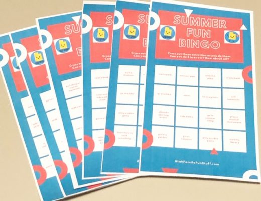 Summer Fun Bingo, Free Printable