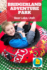Bridgerland Adventure Park is Bear Lake's newest venue. Tubing, rock climbing, ropes course, giant swing, disk gold--so much fun! #bearlake #utah #idaho #adventure #park #gardencity