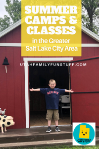 It's summer! Are your kids bored yet? Find great summer camps and classes with this MEGA list of options for the Greater Salt Lake City Area. #saltlakecity #utah #summer #camp #class