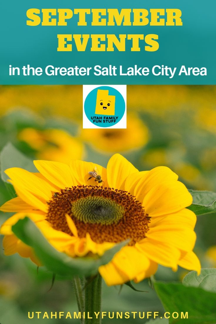 Extensive calendar list of September events in the Great Salt Lake City Area. Festivals, boutiques, art shows--you name it. It's on the list. #utah #ut #events #september #saltlakecity