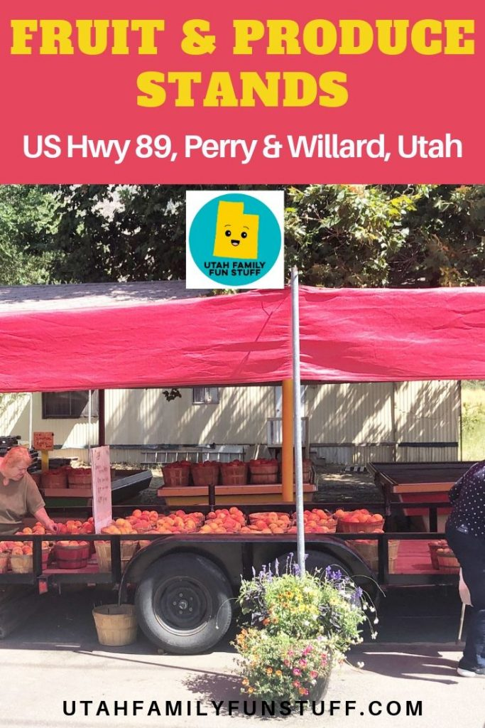 Want fresh, local fruit and produce in northern Utah? These 10 roadside stands between Perry and Willard, Utah, are plentiful. #utah #fruitstand #fruit #produce