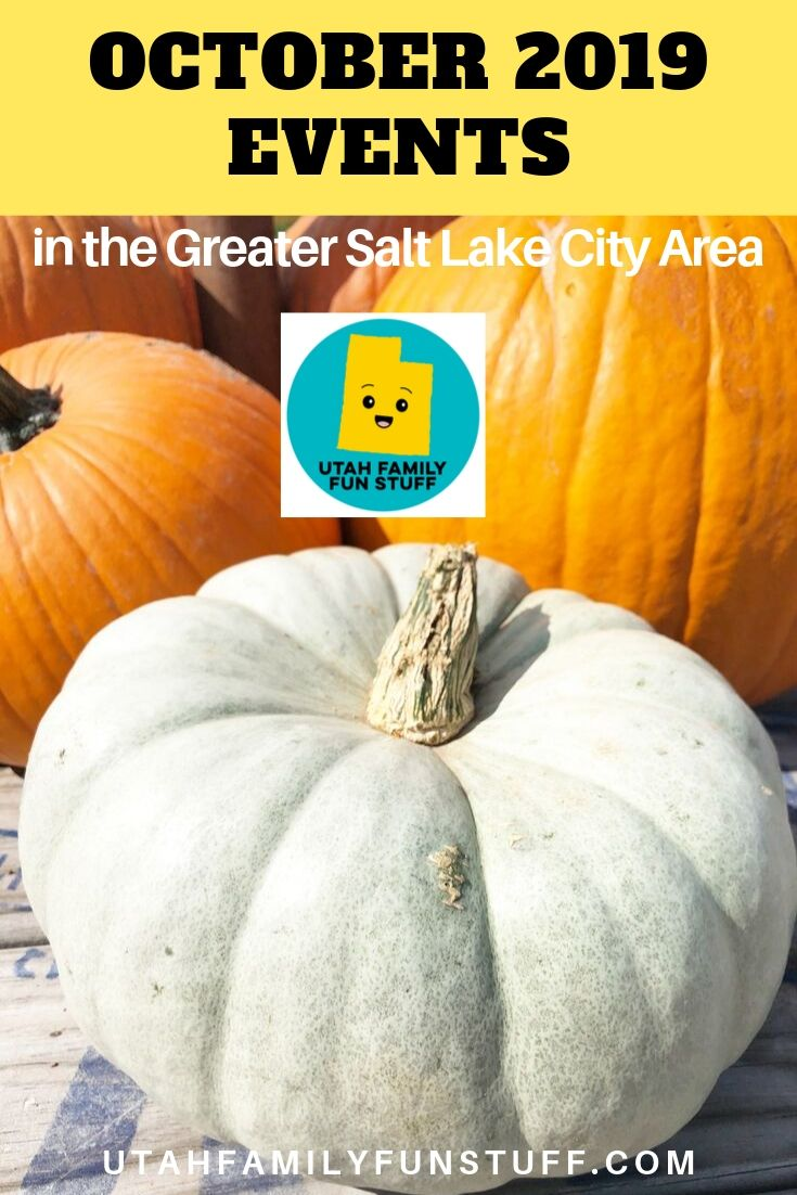 October is full of fun events in the Greater Salt Lake City Area. Be sure to see our BIG list. #october #fall #autumn #events #activities #utah #saltlakecity #halloween