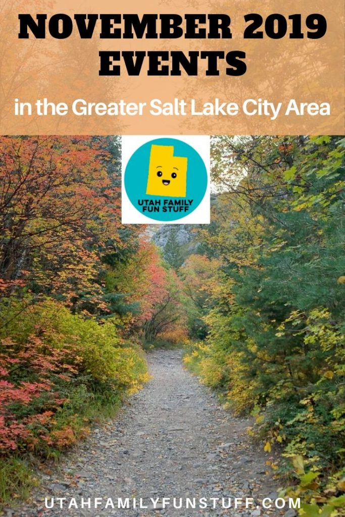 BeUtahful fall events are happening now! See our MEGA list of November 2019 events in the Greater Salt Lake City Area. #utah #saltlakecity #events #november #fall #activities #thanksgiving #holiday #christmas #Santa