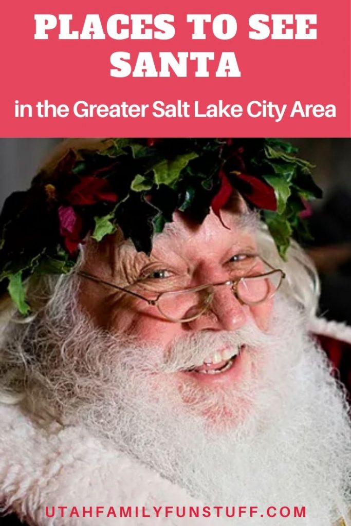 Santa is here! Find out all the many places to see him in the Greater Salt Lake City Area. List is updated as new events are announced and annually. #santa #Christmas #saltlakecity #utah #events