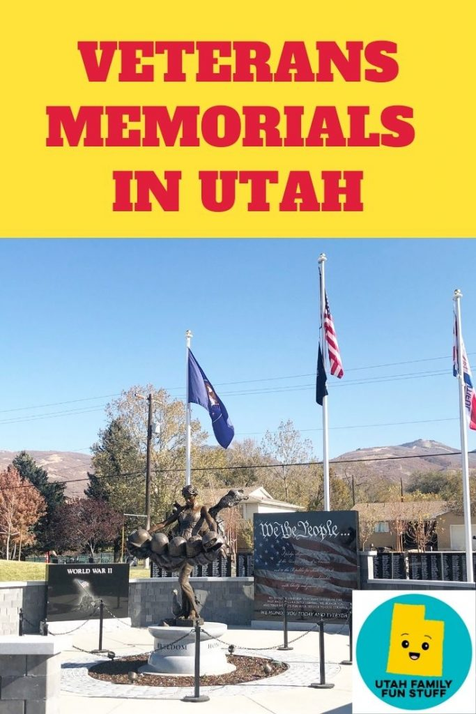 In honor of our Utah veterans, we share this list of memorials throughout the state.